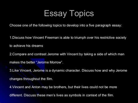 themes in gattaca essay gattaca essay writing power point