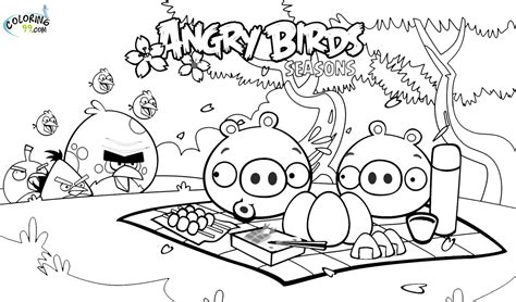 coloring pages of angry birds angry birds season coloring pages team colors