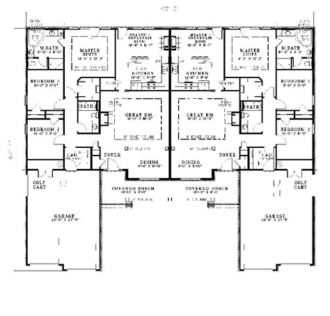 Ranch Duplex Plans by Salerno Ranch Duplex Plan 055d 0076 House Plans And More