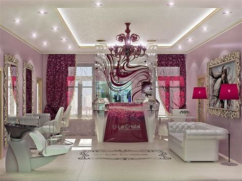 interior design beauty salon burgundy color sal 227 o de
