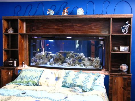 fish tank bedroom amazing fish tank headboard as shelf cabinet for
