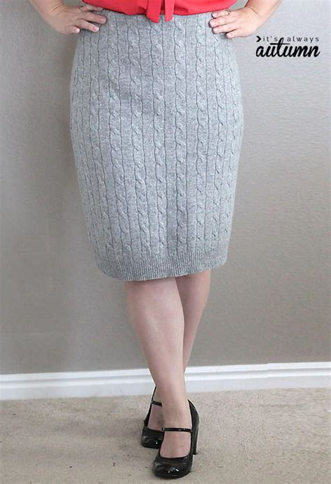 diy knit skirt cable knit diy pencil skirt allfreesewing
