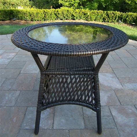 Wicker Table L Shop Oakland Living Elite Resin Wicker 25 In W X 25 In L Wicker Coffee Table At Lowes