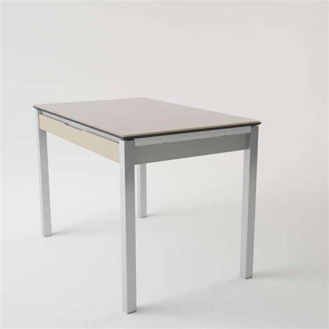 table cuisine tiroir table de cuisine en verre extensible avec tiroir camel 4 pieds tables chaises et tabourets