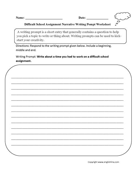 middle school writing ignment worksheet middle best free