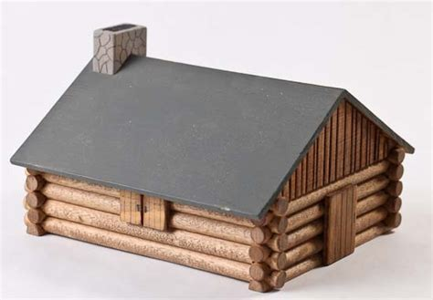 Model Log Cabin by Wooden Model Log Cabin Kit Craft Kits Crafts