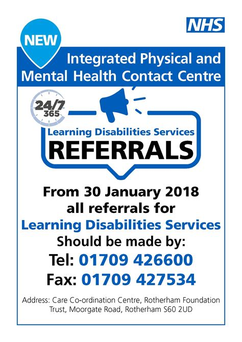flyer design rotherham learning disability referrals move to the care co