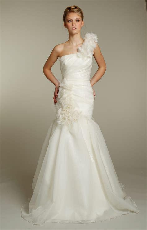 Wedding Hairstyles For Mermaid Dress by One Shoulder Ivory Mermaid Wedding Dress With