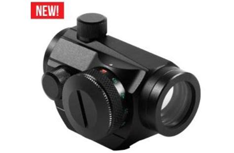 Windage And Elevation Knobs by Aim Sports 1x20 Dual Illuminated Micro Dot Reflex Sight