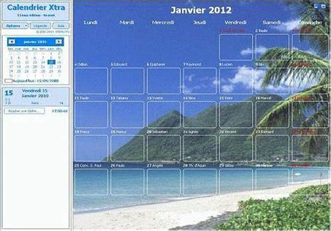 Calendrier U X T 233 L 233 Charger Calendrier Xtra 2012 Pour Windows Freeware