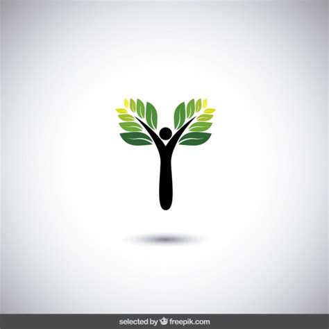 Eco Logo With Abstract Tree Vector Free Download Logo With Abstract Tree Vector Free