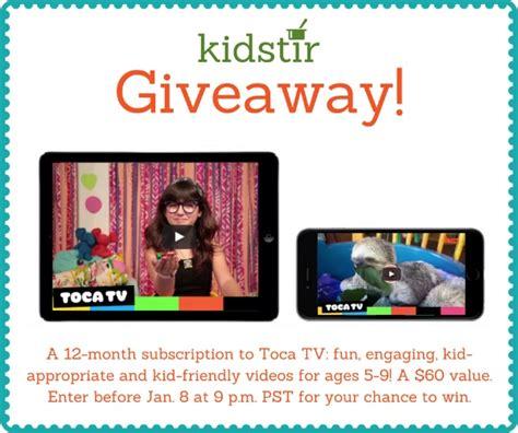 Television Giveaway - volunteering with kids kidstir