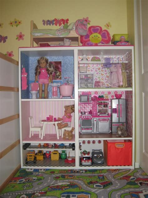 Mom Brag: American Girl Sized Doll House/Toy Car Garage