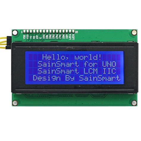 Blue Lcd Display 2004 20x4 20 X 4 Module With I2c Iic Backpack sainsmart iic i2c twi serial 2004 20x4 lcd module shield