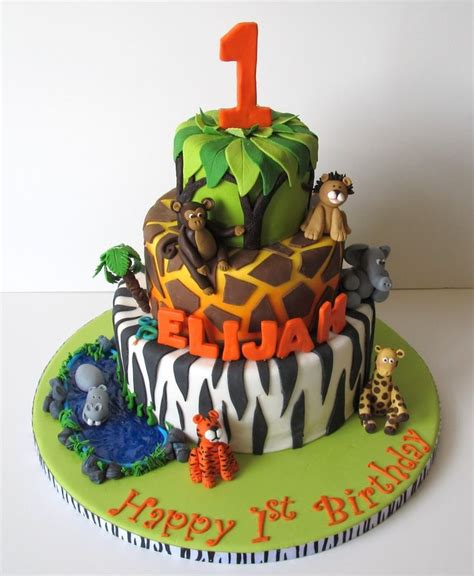 images  jungle fondant cake  pinterest jungle animals jungle theme  fondant