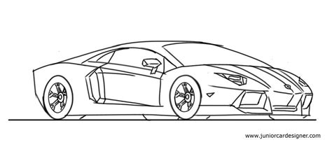 How To Draw A Lamborghini Step By Step How To Draw A Lamborghini Aventador Step By Step Junior