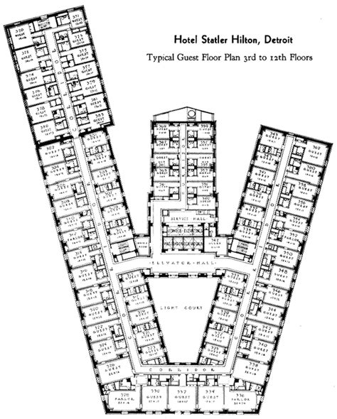 typical hotel floor plan the statler hotel typical guest floor plan fall 2014