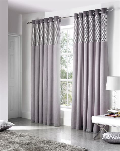 Silver Curtains Savoy Silver Eyelet Curtains From Net Curtains Direct