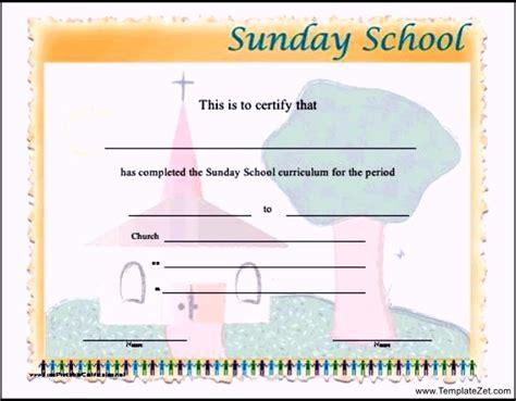 sunday school attendance template sunday school attendance certificates templatezet