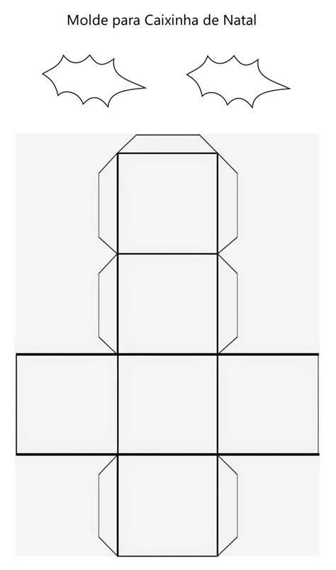 Caixinha de Papel para Natal com Moldes | Caixa de papel