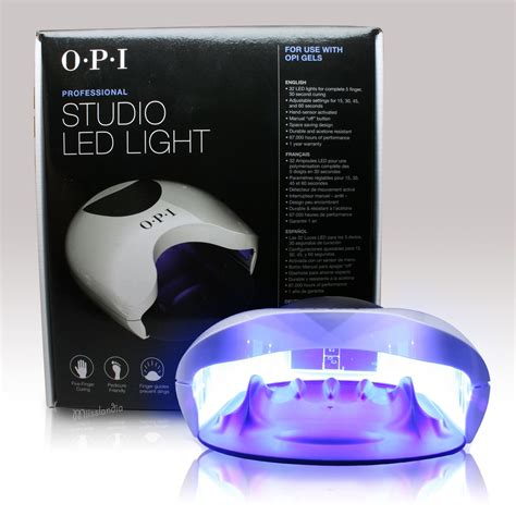 opi led light l opi professional studio led light gl900 gel l dryer 15