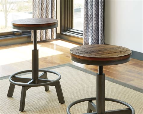 torjin adjustable height bar stool set   browngray