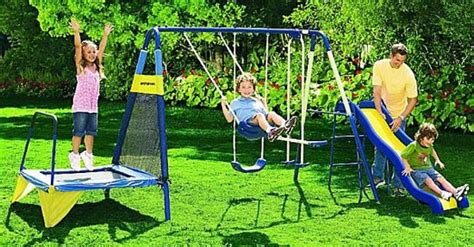 jump and swing set sportspower jump n swing set only 188 88 regularly 269