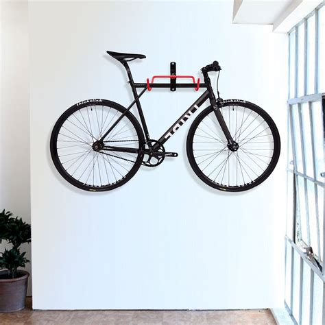 voilamart 2 pcs steel wall mount bike hanger bicycle