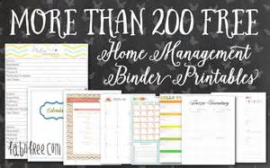 Home Organization Templates by More Than 200 Free Home Management Binder Printables