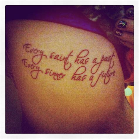 every sinner has a future tattoo my newest ribtattoo quote every has
