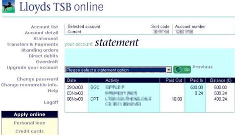 tsb bank lloyds tsb classic plus account