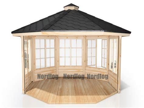 gartenpavillon aus holz günstig kaufen nordlog exklusiver gartenpavillon 10m2 gartenhaus holz