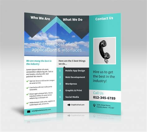 brochure templates docs tri fold brochure template docs inspirational tri