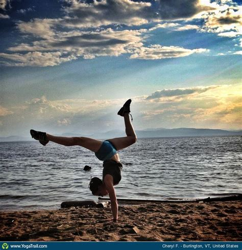 boat pose to handstand handstand yoga pose asana image by cherylfeinberg