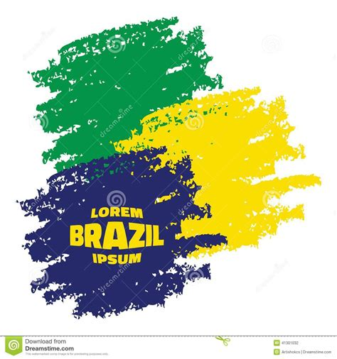 brazil colors grunge football background in brazil flag colors vector