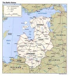 Baltic States Map by Free Estonia Maps