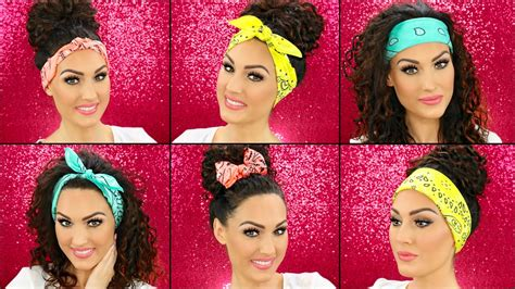 different ways to wear a bandana with short hair how to wear bandanas in your hair youtube