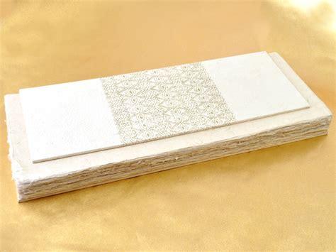 Handmade Guest Books - naga handmade paper guest book white