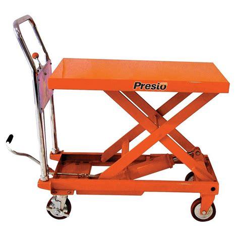 Presto Plumbing by Presto Lifts 600 Lb Portable Manual Lifter Transporter