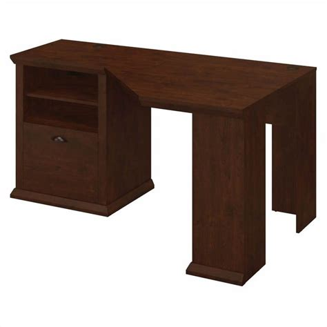 Bush Corner Desk Bush Yorktown 60w Corner Desk In Antique Cherry Wc40315 03