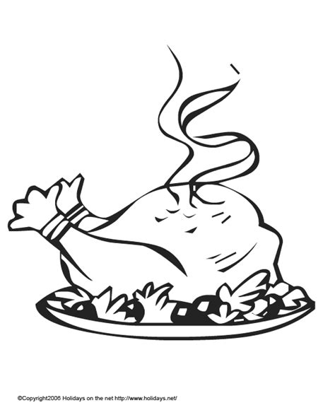 coloring pages of cooked turkey cooked turkey coloring page
