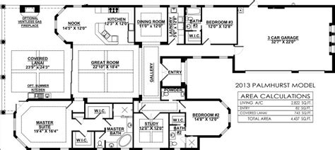 great room floor plans single story palmhurst floor plan new construction at quail west in bonita springs fl