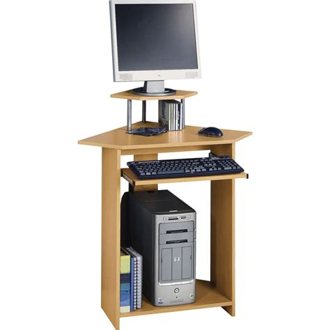 Oak Effect Corner Desk Large Corner Desk Oak Effect
