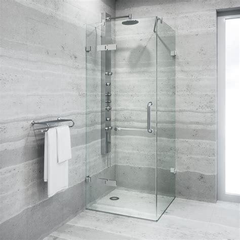 Vigo Monteray 30 25 In X 73 375 In Frameless Pivot Vigo Shower Doors
