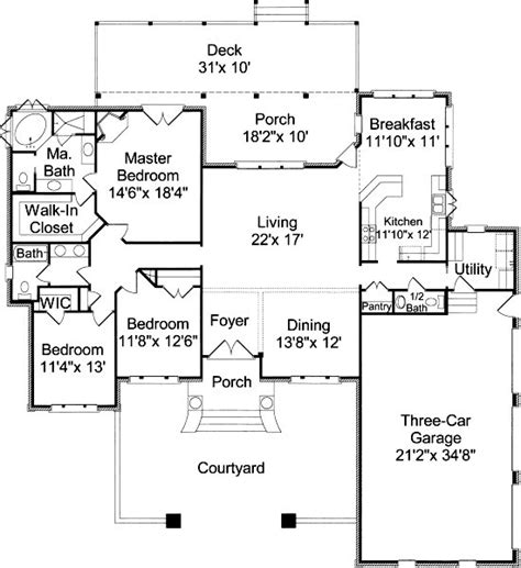 housing blueprints floor plans southern cottage house plans alp 030w chatham design house plans