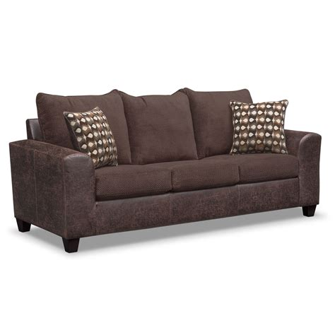 american signature sleeper sofa brando sofa chocolate american signature furniture