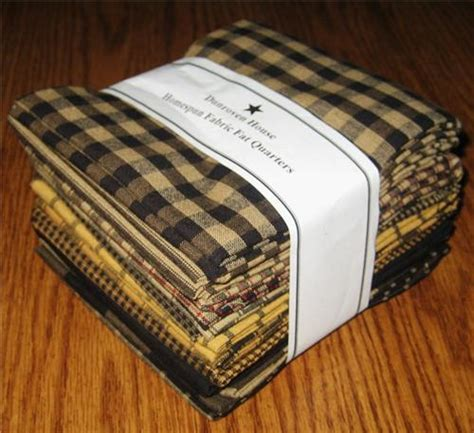 dunroven house dunroven house 12 blacks mustard primitive homespun fabric fat quarters