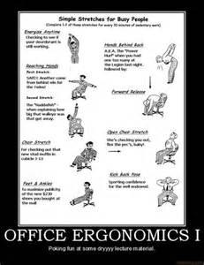 Posters For Office Desk Ergonomics Poster For Office Desk Exercises Hacks Collection Desks Humour