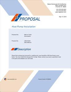 Heating And Air Conditioning Sle Proposal 5 Steps Air Conditioning Quote Template