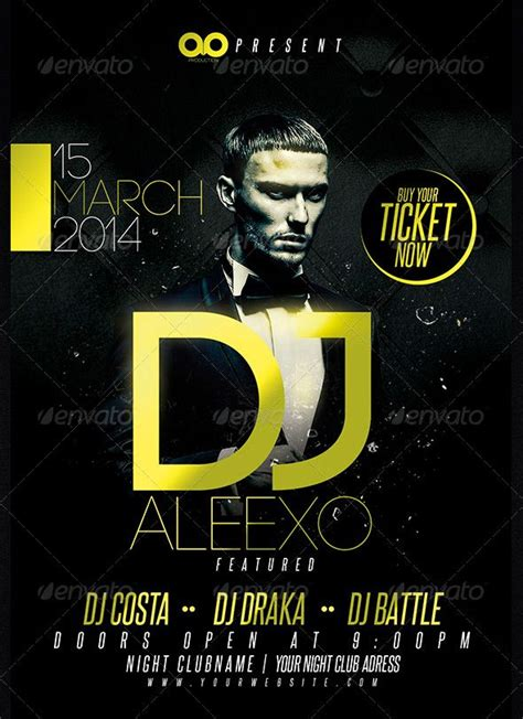 flyer design dj guest dj club and party flyer template дизайн